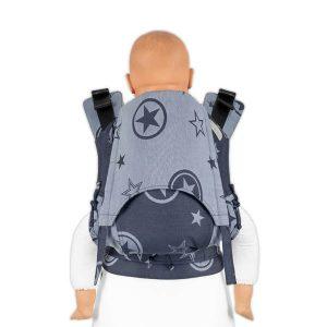 Mochila ergonómica toddler. Outer space azul