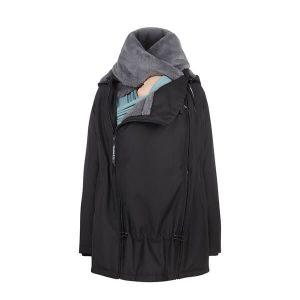 Abrigo de embarazo, porteo y para después Wallaby Negro y gris