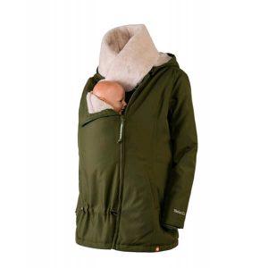 Abrigo de embarazo, porteo y para después Wallaby Verde