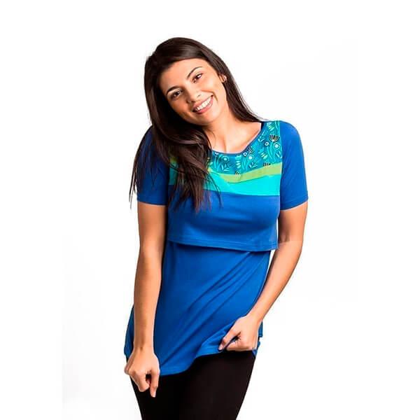 Camiseta de lactancia Top Nerea Azul