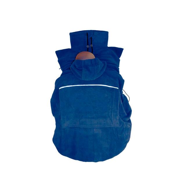 Cobertor bufanda azul para portabebés