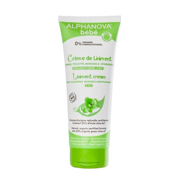 Crema linimento 4 en 1 natural: limpiadora, hidratante, crema pañal y de masaje