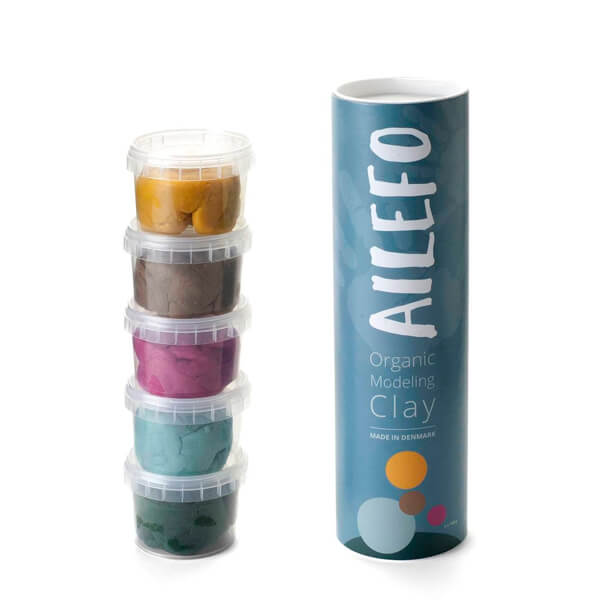 Plastilina con colorantes alimenticios Ailefo