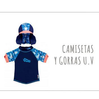 Camisetas y gorras con protección solar