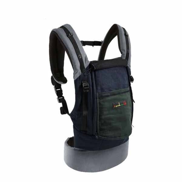 Mochila Physiocarrier cotton verde / Azul / gris