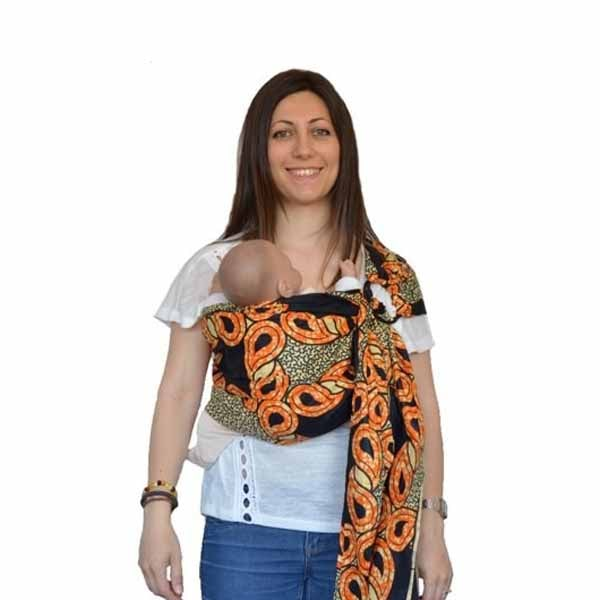 Bandolera portabebé de tela africana