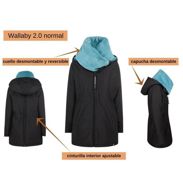 Abrigo de embarazo, porteo y para después Wallaby
