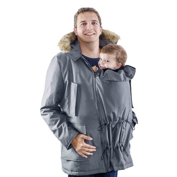 Abrigo gris para porteo padres Bandicoot