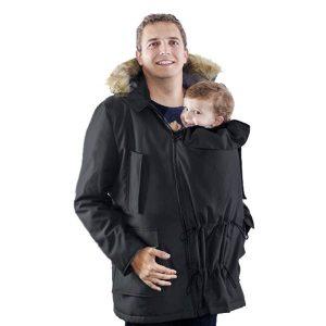 Abrigo negro para porteo padres Bandicoot