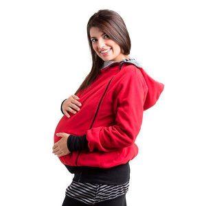 Forro porteo y embarazo, rojo