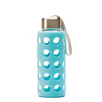 Botella reutilizable Bbo Irisana 300 ml. con funda de silicona azul