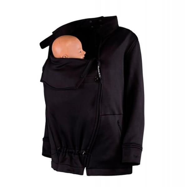 Abrigo de embarazo y porteo Numbat negro
