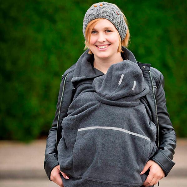 Cobertor bufanda gris para portabebés