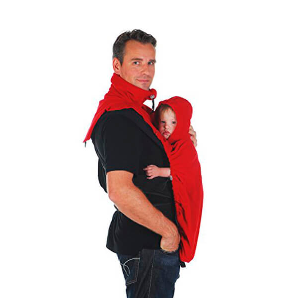 Cobertor bufanda roja para portabebés