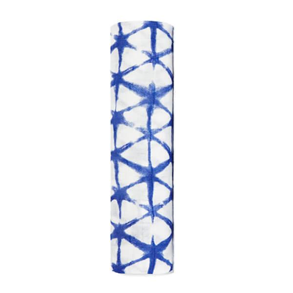 Muselina bambú Aden Anais 120x120, Indigo shibori triángulos