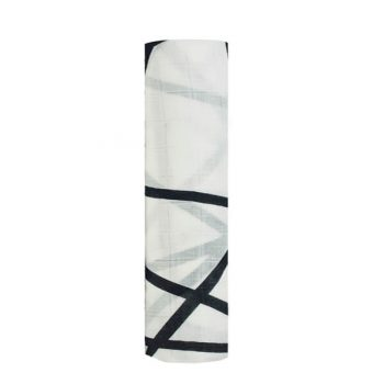 Muselina bambú Aden Anais 120x120, Midnight negro líneas